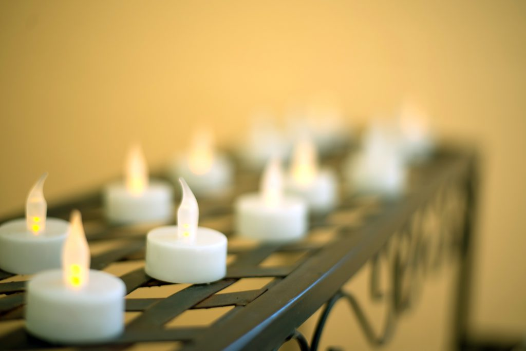 """Photo of an art installation called """"View of time - candles of sacrifice"""""""